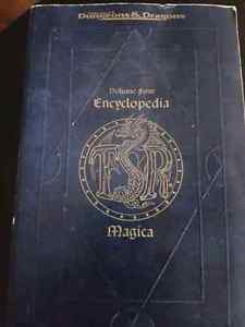 Advanced Dungeons and Dragons - volume four encycolpedia  D&D London Ontario image 1