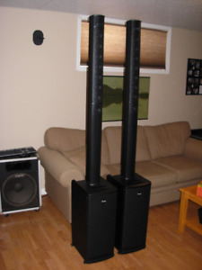 Fender Expo Line Array PA System with built-in Subs (PAIR)