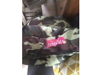 Free- army print style sleeping bag for festivals