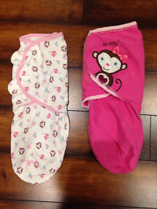 0-3M Pink Cotton Swaddlers