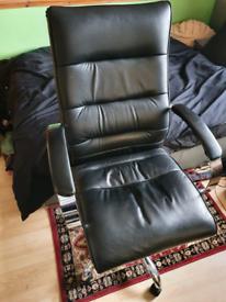 Black Leather adjustable Chair