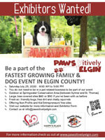 Vendors/Exhibitors Wanted for our 3rd Annual Pawsitively Elgin!