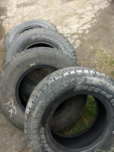 265 / 70 r 17 LT summer tires