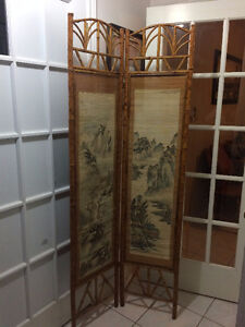 Hand Painted Bamboo Divider/Partition/Screen