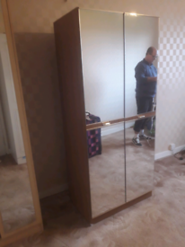 Mirrored wardrobe for sale