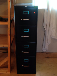 Beautiful 4 Draw Black Filing Cabinet with Key