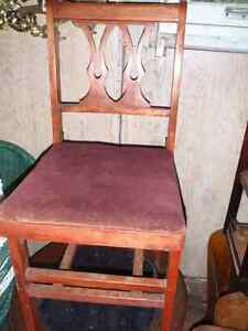 Antique Hourd Folding Chairs