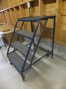 4 Step Industrial Rolling Ladder