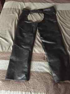 Leather Motorcycle chaps - 3XL