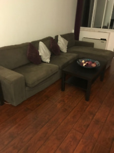 Living Room Set of 3 Including Tables, Cushions and Curtains