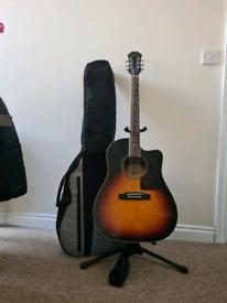 epiphone AJ 220SE acoustic guitar