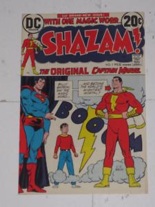 DC Comics Shazam!#1 (1973) Superman cover! Movie! comic book