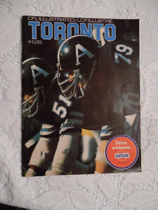 1974 CFL TORONTO ARGONAUTS PROGRAM Cambridge Kitchener Area image 1