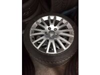 Audi 17 inch alloys x4 with 2 new tyres original Audi Rims