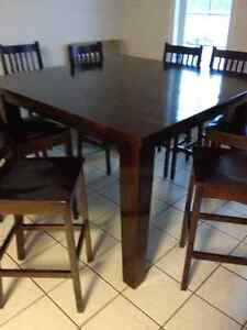 pub height solid maple dining set
