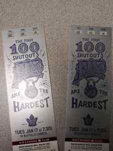 MAPLE LEAFS TICKETS FOR TODAYS GAME (JAN. 17th) @ AIR CANADA CNT