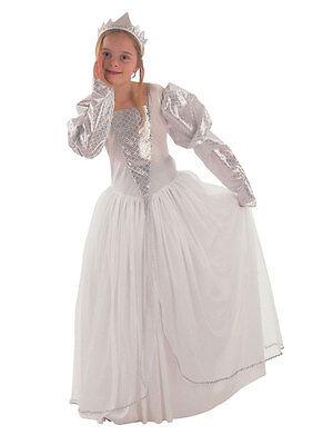Girls Snow Princess Or Ice Queen Fancy Dress Costume Book Week Kids 3-10 (Ice Princess Fancy Dress Kostüm)