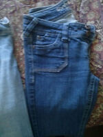 """2 pairs ladies jeans...size 5 with 34"""" leg ........7.00 for both"""