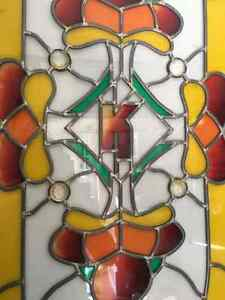 Vintage stained glass for windows and doors