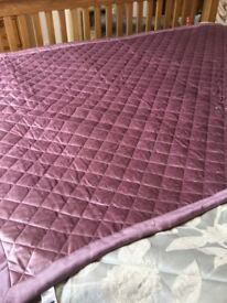 Brand new large throw, mauve, cost £39