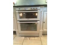 Stoves double oven - under counter, cream