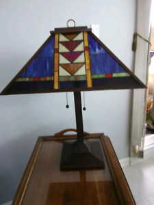 Pair of Stained glass lamps