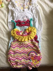 9-Piece Almost New Baby Girl and Neutral Rompers 0-3M