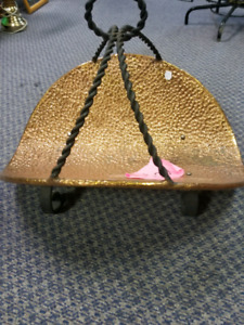 Hand made Heavy Copper log or decor carrier