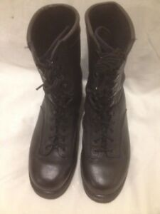 Mens Black Leather Boulet All Purpose Military Boots 10M