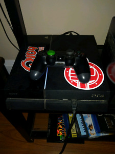 PS4 w/ controller and games