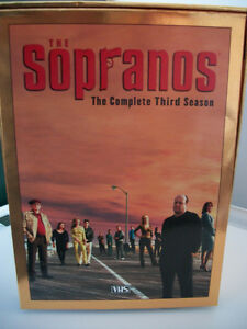 THE SOPRANOS THE COMPLETE THIRD SEASON VHS