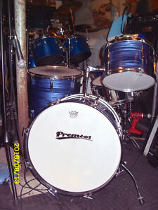 Late 60's premier 4 piece drum shell kit for sale or trade Peterborough Peterborough Area image 1