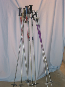4 sets aluminum downhill ski poles in good condition