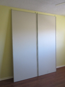 "Two 33-1/2"" x 87-7/8"" Sliding Closet Doors"