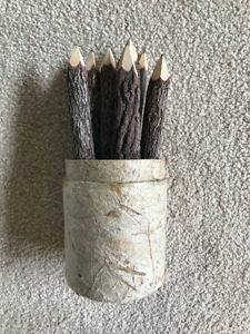 Crayon fait a partir de vrai bois
