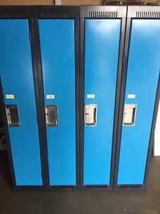 "Lockers, great fronts, questionable inside. Single door 60"" tall"