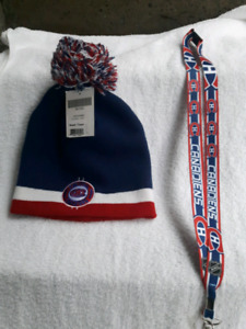 Montreal Canadiens New Hat and Neck Lanyard (great gift idea)