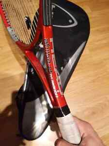 Head tennis racquet with bag