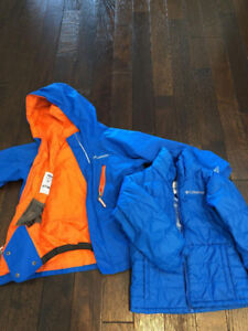 New Columbia 3 in 1 boys jacket