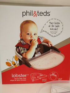 Phil and Teds Portable Highchair - Lobster - Like New!