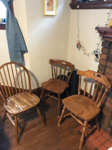 3 Wooden chairs - $15 for all OBO