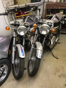 2 Triumph Bonneville's    1976 and 1977