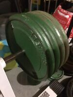 4x 25 Lbs Solid Steel Weight Plates with 1 inch hole  $80 firm