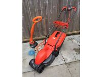 Flymo rollermo lawn mower grass cutter with collecting box