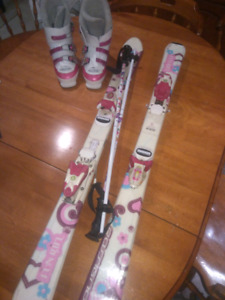 Youth girl ski set
