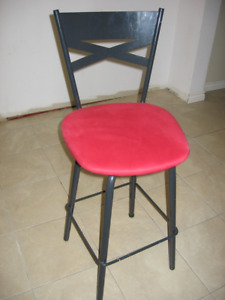 2 Black/red high chairs for sale