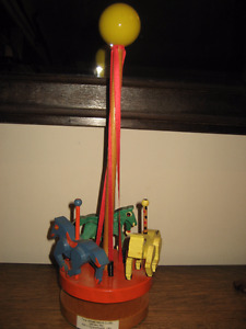Wooden Spinning Carousel