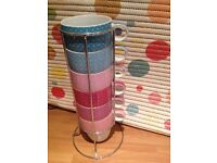 6 mugs cups with stand from NEXT