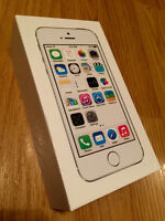 New iPhone 5s Silver 32GB Unlocked AppleCare+ Otterbox Leather