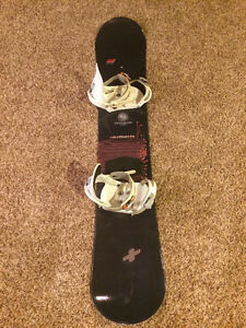Division 23 snowboard and Burton Freestyle bindings $75.